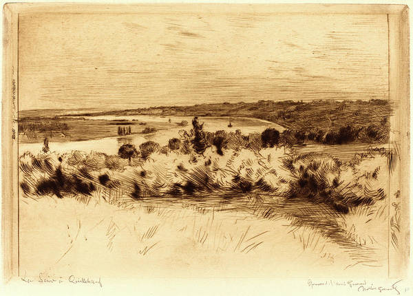 1854 Drawing - Norbert Goeneutte, French 1854-1894, The Seine by Litz Collection