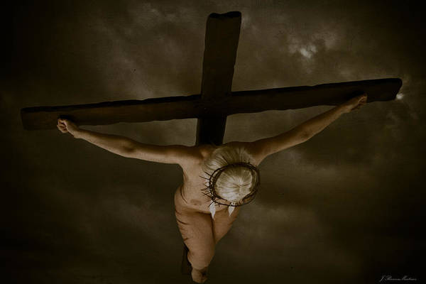 Donna Digital Art - Nordic Crucifix by Ramon Martinez