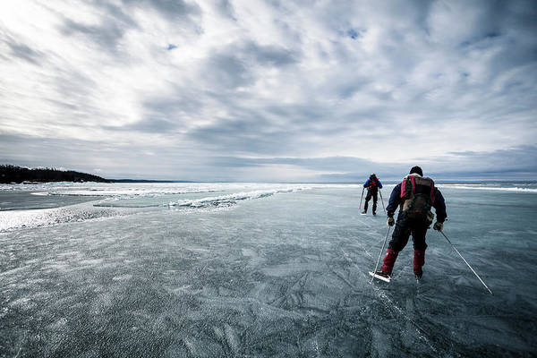 Water Sport Photograph - Nordic Skating On Ice by Katja Kircher