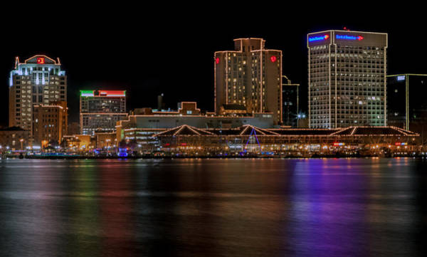 Photograph - Norfolk Virginia Skyline by Jerry Gammon