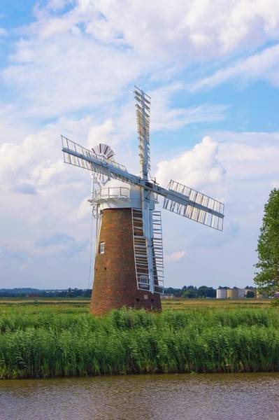 Norfolk Broads Wall Art - Photograph - Norfolk Windmill by Mark Williamson/science Photo Library