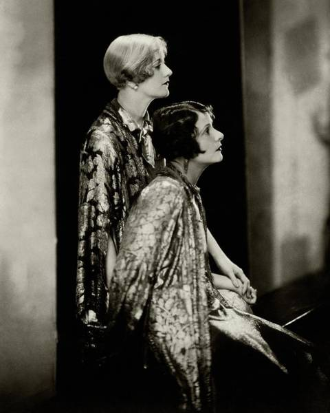 Two People Photograph - Norma And Constance Talmadge by Edward Steichen