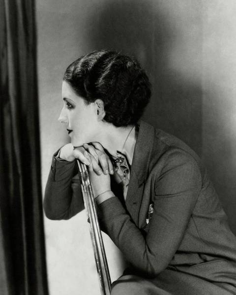 Photograph - Norma Shearer Sitting On A Chair by Charles Sheeler