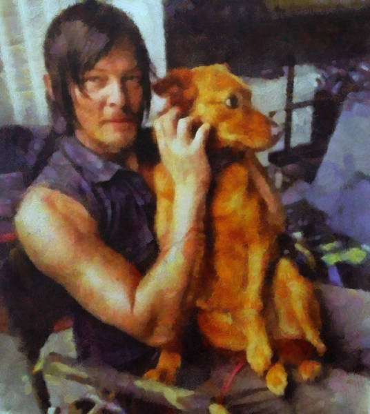 The Walking Dead Painting - Norman And Charlie  by Janice MacLellan