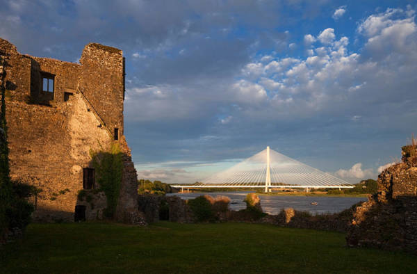 Suir Photograph - Norman Granny Castle, With The River by Panoramic Images