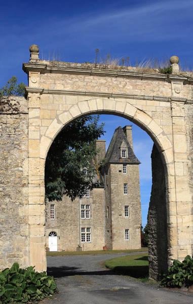 Photograph - Norman Manor Arched Door by Aidan Moran