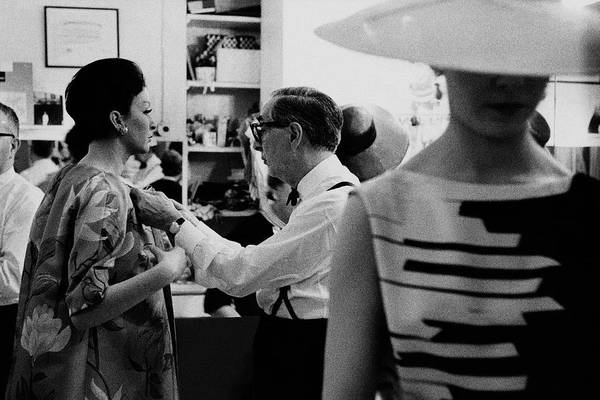 Group Of People Photograph - Norman Norell Backstage by Bert Stern