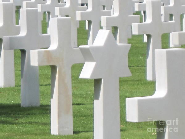 Photograph - Normandy American Cemetery by HEVi FineArt