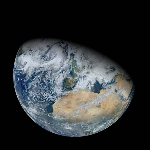 Suomi Photograph - North Africa And Europe, Satellite Image by Science Photo Library