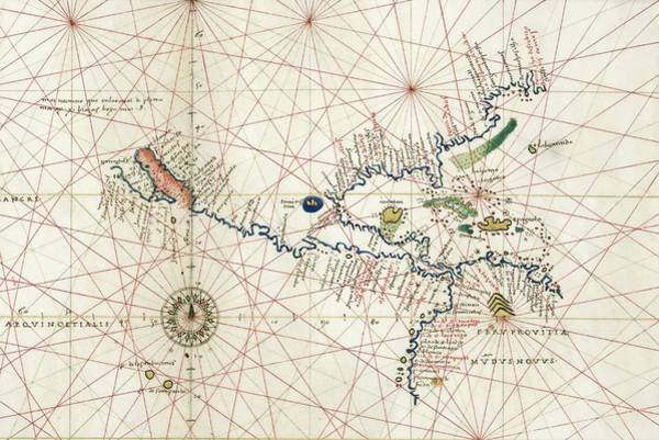 Gulf Of Mexico Photograph - North America Portolan Chart by Library Of Congress, Geography And Map Division/science Photo Library