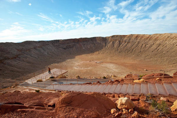 Meteor Crater Photograph - North America, Usa, Meteor Crater by Bernard Friel