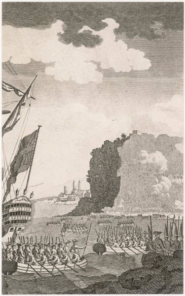 Quebec City Drawing - North American Campaign The British by Mary Evans Picture Library