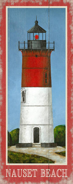 Wall Art - Drawing - North American Lighthouses - Nauset by MGL Meiklejohn Graphics Licensing