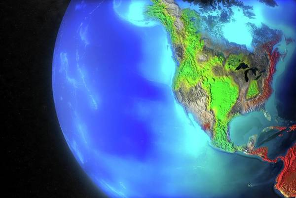 Oak Ridge National Laboratory Photograph - North And Central America Climate Model by Oak Ridge National Laboratory/science Photo Library