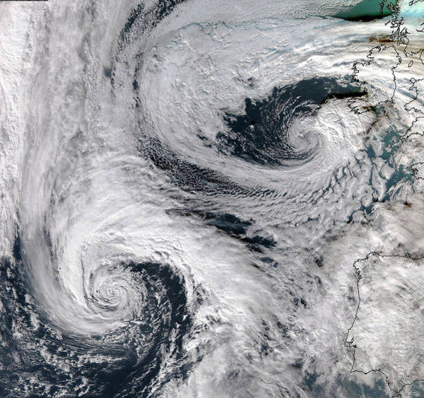 Suomi Photograph - North Atlantic Depressions by University Of Dundee/science Photo Library