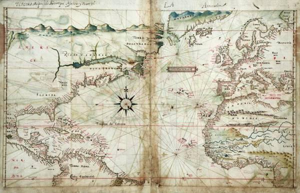 Atlantic Canada Wall Art - Photograph - North Atlantic Region by Library Of Congress/science Photo Library
