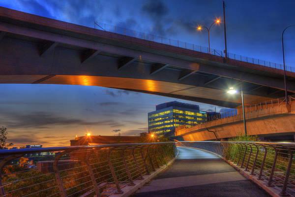 Photograph - North Bank Foot Bridge - Boston by Joann Vitali