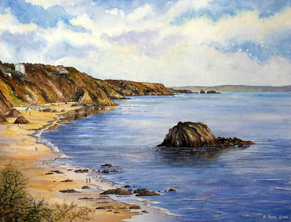 Wall Art - Painting - North Beach  Tenby by Andrew Read