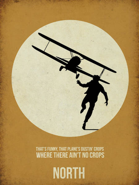 Cinematography Painting - North By Northwest Poster by Naxart Studio