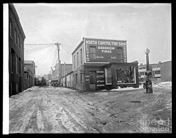 Photograph - North Capitol Tire Shop by Russell Brown