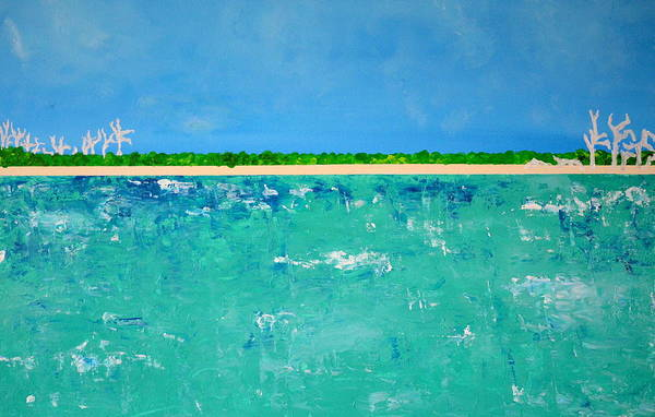 Captiva Island Painting - North Captiva - Gulfside by Carol Hunter