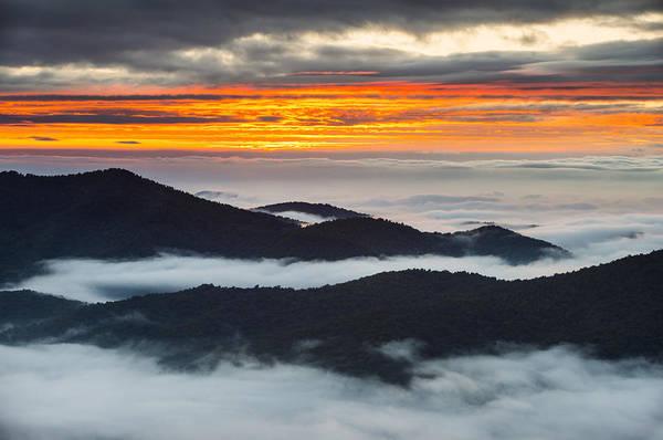Nc Wall Art - Photograph - North Carolina Blue Ridge Parkway Sunrise by Dave Allen