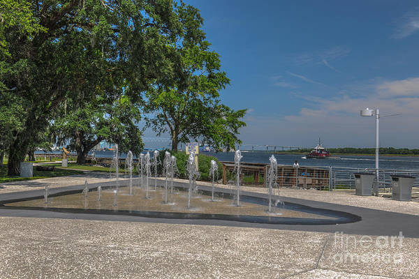 Photograph - North Charleston Riverfront Park by Dale Powell