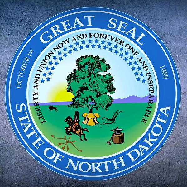 Digital Art - North Dakota State Seal by Movie Poster Prints