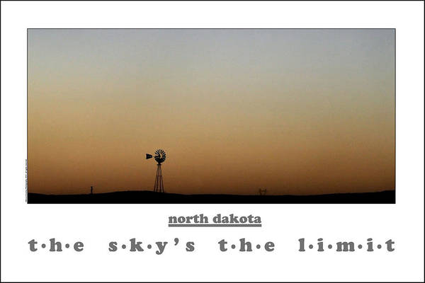 Bruce Dickinson Wall Art - Photograph - North Dakota  The Sky's The Limit by Bruce Crummy