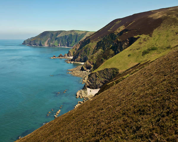 Photograph - North Devon Coast From Blackstone Point by Pete Hemington
