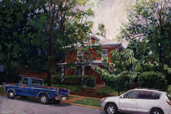 Wall Art - Painting - North Downtown Charlottesville by Edward Thomas
