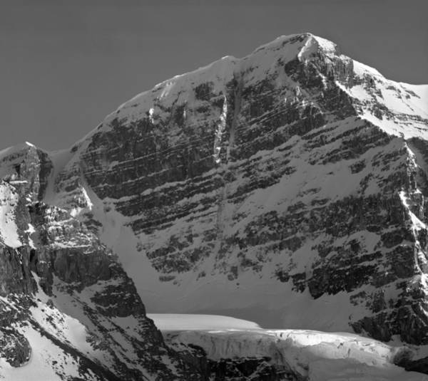 Photograph - 1m3775-bw-north Face Mt. Andromeda  by Ed  Cooper Photography