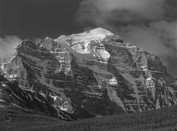 203553-north Face Mt. Temple Bw Art Print