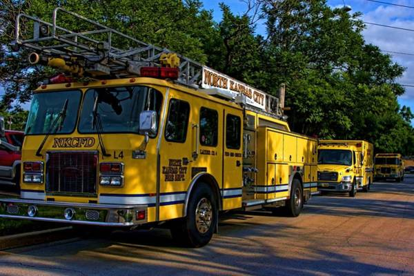 Photograph - North Kansas City Mo Fire Department by Tim McCullough