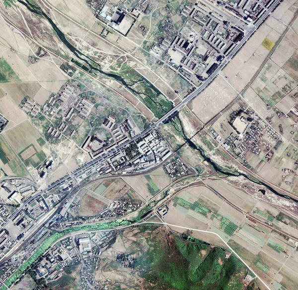 Pharmaceutical Wall Art - Photograph - North Korean Pharmaceutical Factory by Geoeye/science Photo Library