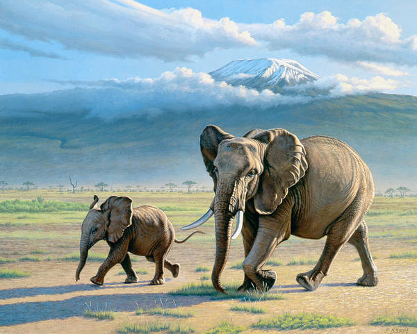Wall Art - Painting - North Of Kilimanjaro  by Paul Krapf