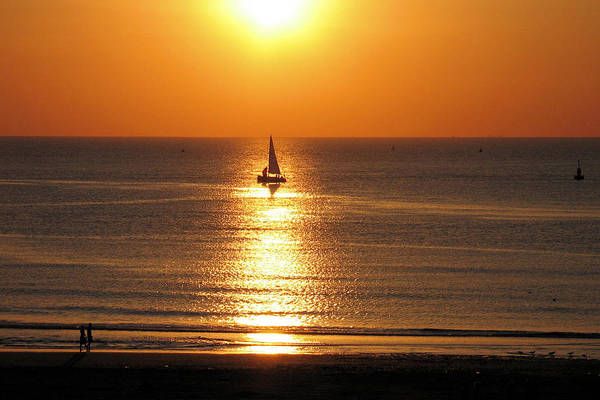 Photograph - North Sea Sunset by Gerry Bates