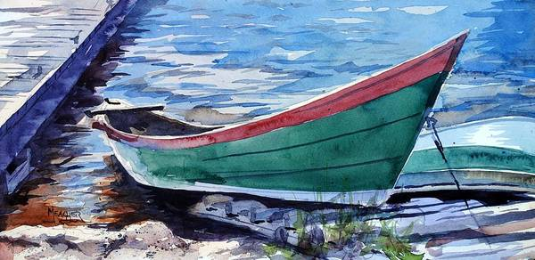Lake Superior Painting - North Shore Fishing Skiff by Spencer Meagher