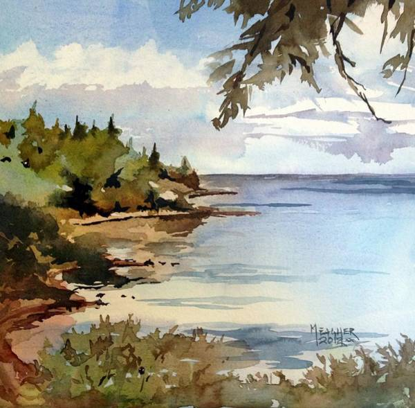 Lake Superior Painting - North Shore Lake Superior by Spencer Meagher