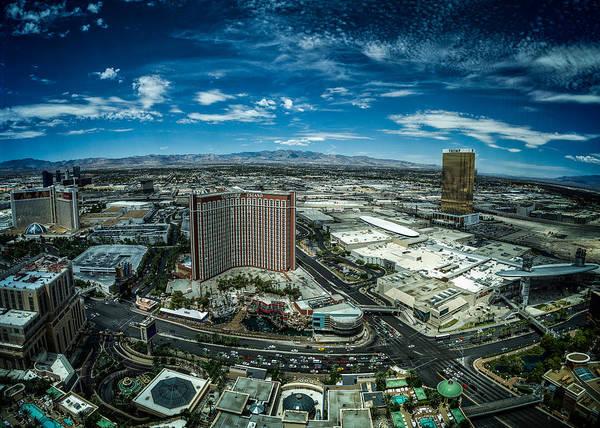 Photograph - North Vegas Strip by Chris Bordeleau