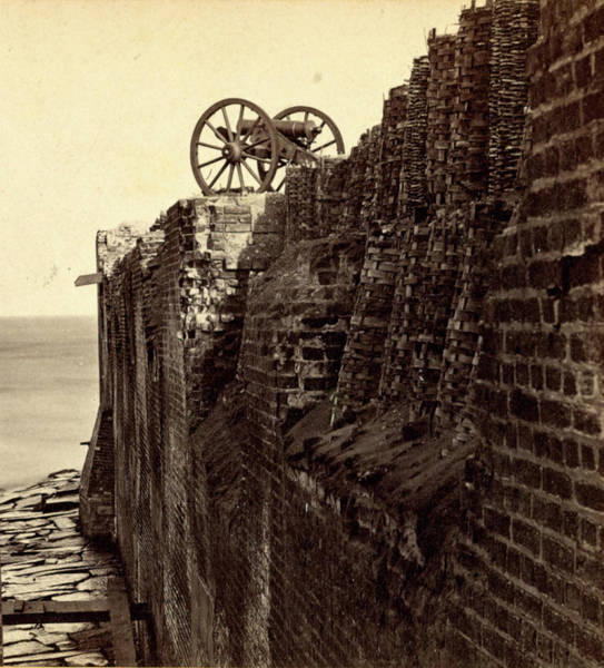 Fort Sumpter Photograph - North Wall Of Fort Sumpter I.e. Sumter by Litz Collection