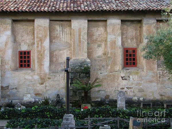 Photograph - North Wall Of The Carmel Mission by James B Toy