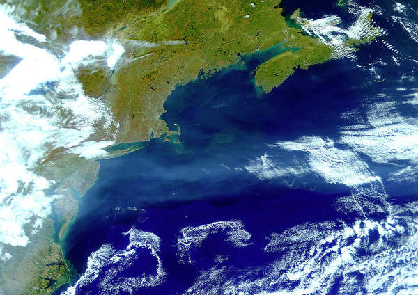 Atlantic Canada Wall Art - Photograph - North-western Atlantic by Planetobserver/science Photo Library