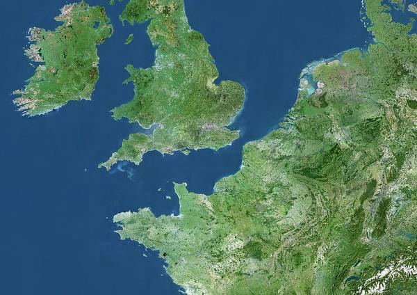 Channel Isles Photograph - North-western Europe by Planetobserver/science Photo Library