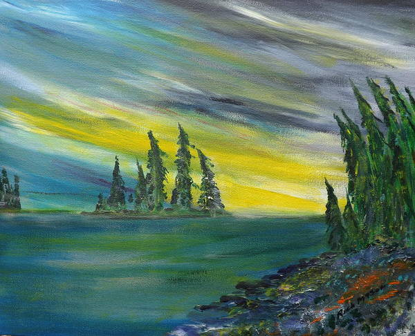 Wall Art - Painting - North Wind by Rich Mason