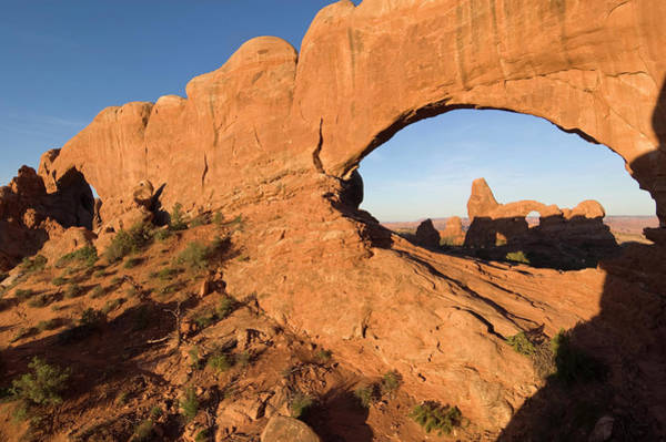 Natural Arch Photograph - North Window At Windows Arches by John Elk