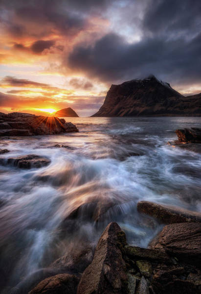 Wall Art - Photograph - Northern Coast Sunset by Daniel F.
