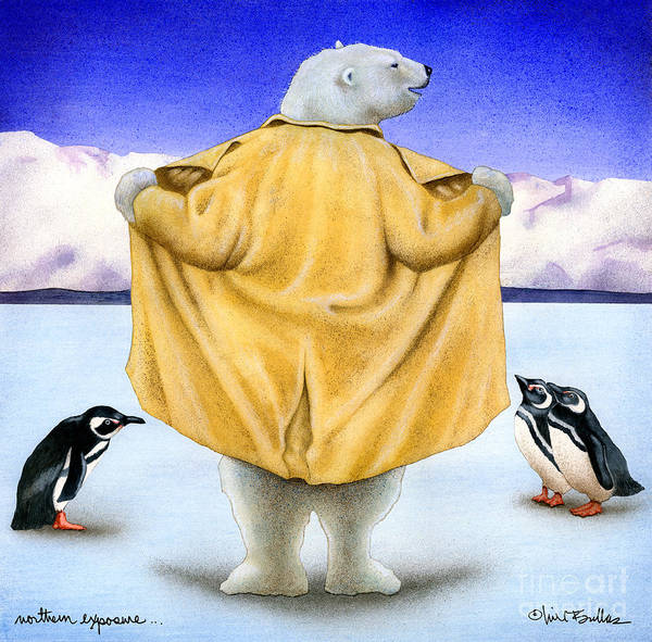 Penguin Painting - Northern Exposure... by Will Bullas
