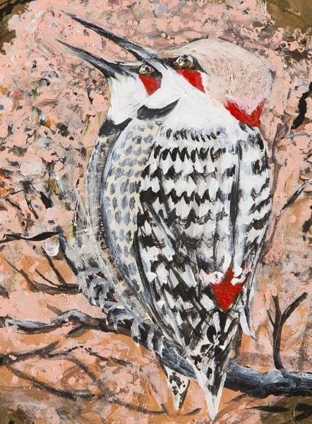 Northern Flicker Painting - Northern Flickers by Cathy Long