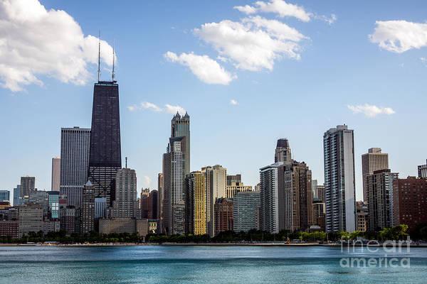 Northern Gold Coast Skyline In Chicago Art Print